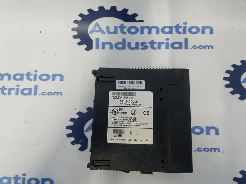 GE Fanuc IC693CPU350 CPU module 34K User Memory
