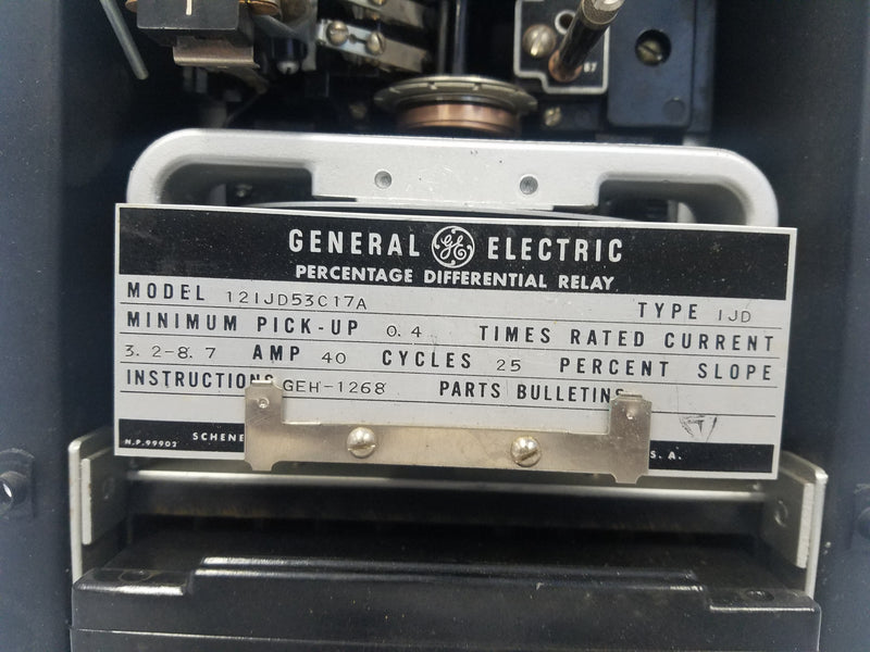 GE 12IJD53C17A Percentage  Differential Relay
