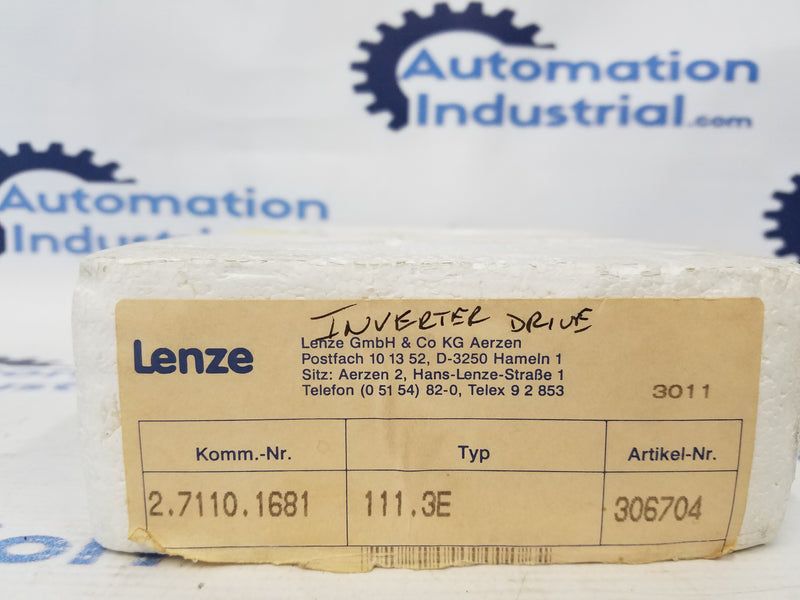 Lenze 2.7110.1681 111.3E Inverter Drive 306704