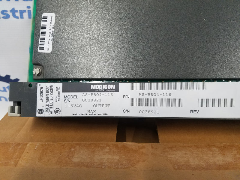 Modicon AS-B804-116 115 VAC 16 Point Discrete Output Module