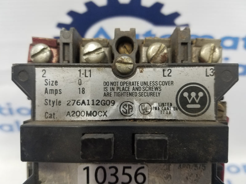 Westinghouse A200M0CX Motor Starter