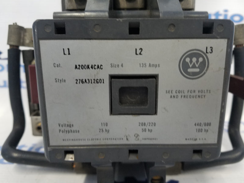 Westinghouse A200K4CAC Starter