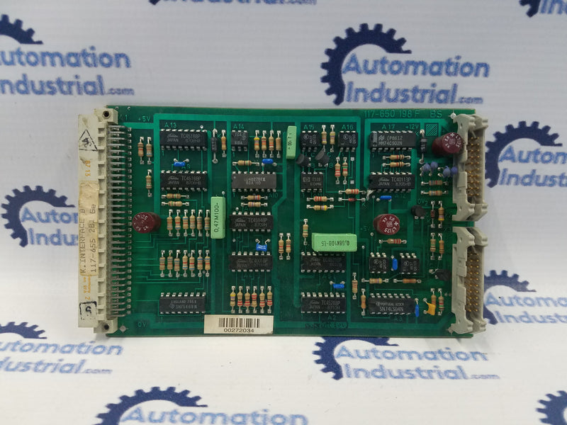 Schlafhorst 117-650 198 Interface Circuit Board 117-650 198F
