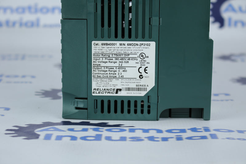 Reliance Electric MD65 6MDDN-2P3102 460VAC 1HP Drive 6MB40001