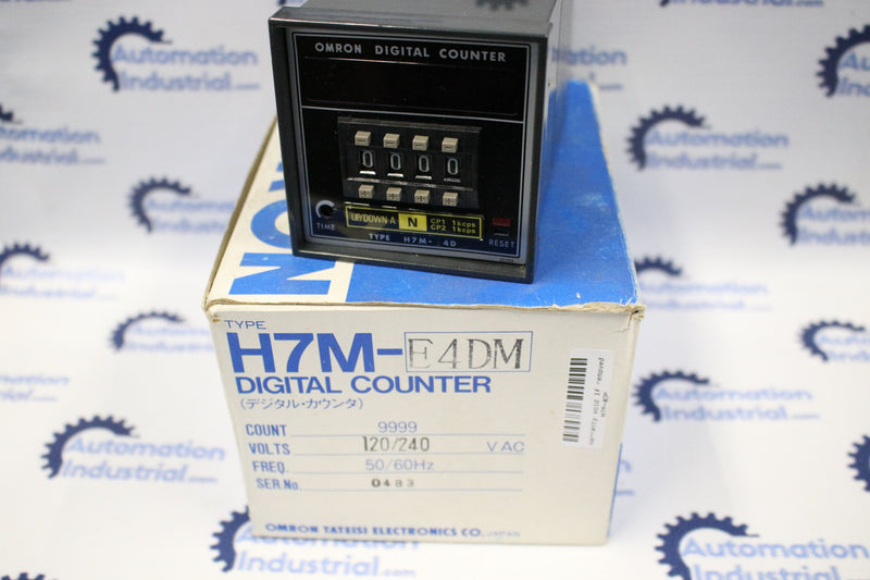 Omron H7M-4DMS Digital Counter 120/240VAC