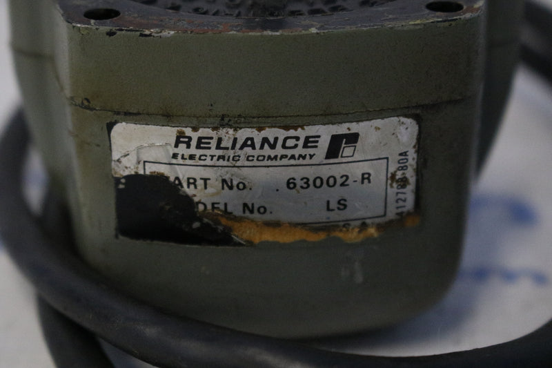 Reliance Electric 63002-R / LS Tachometer Generator Acuse