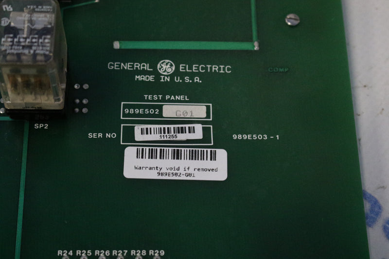General Electric 989E502-G01 Test Panel Board