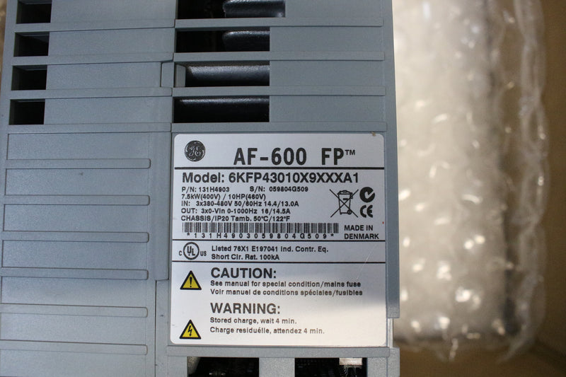 General Electric 6KFP43010X9XXXA1 131H4903 AC Drive 10HP 460v