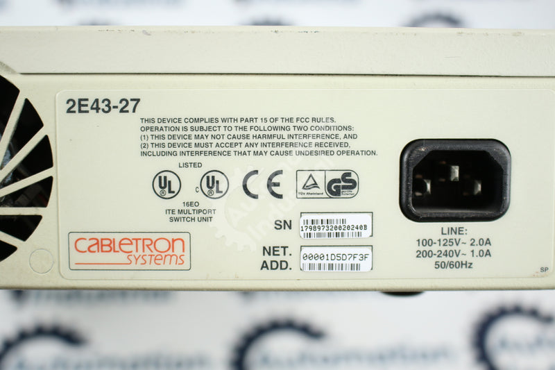 Cabletron 2E43-27 SmartSwitch 2200 Fast Ethernet WorkGroup Switch