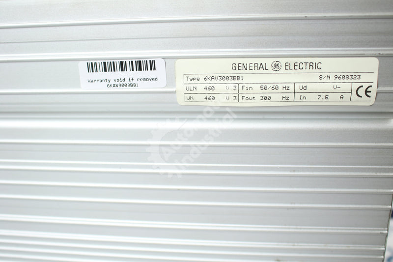GE General Electric 6KAV3003BB1 AV 300 Drive