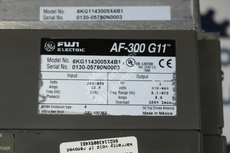 General Electric GE Fuji 6KG1143005X4B1 5HP AC Drive