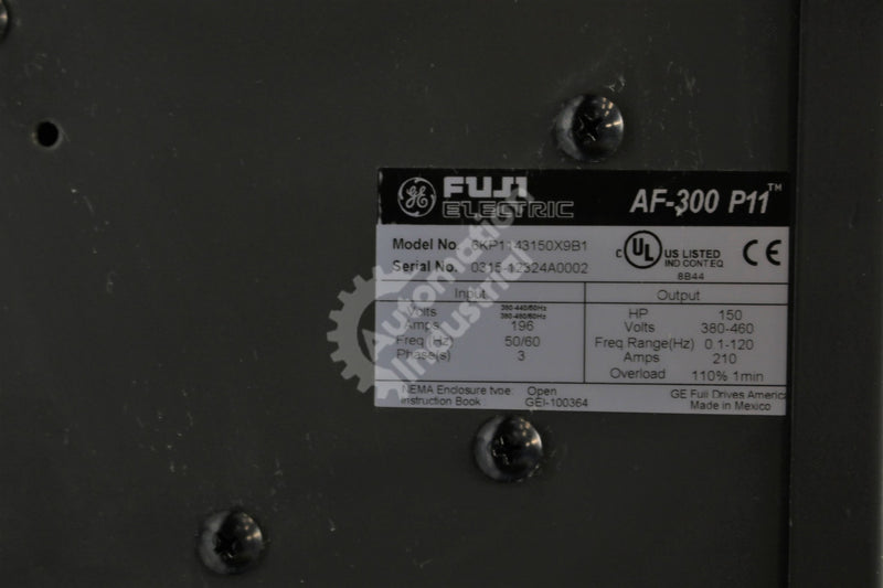 General Electric GE Fuji 6KP1143150X9B1 VFD 150HP 3 Phase 460VAC