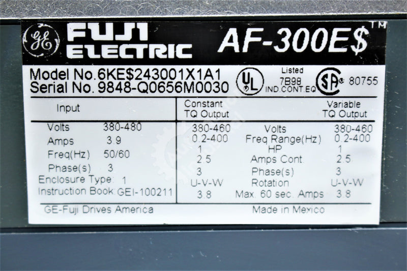 GE General Electric 6KE$243001X1A1 1HP Drive