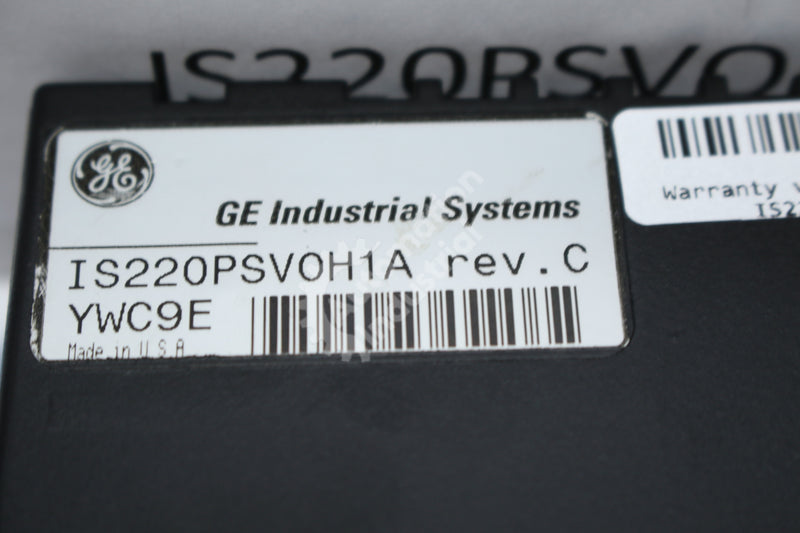 GE General Electric IS220PSV0H1A REV. C Servo Terminal Board NEW