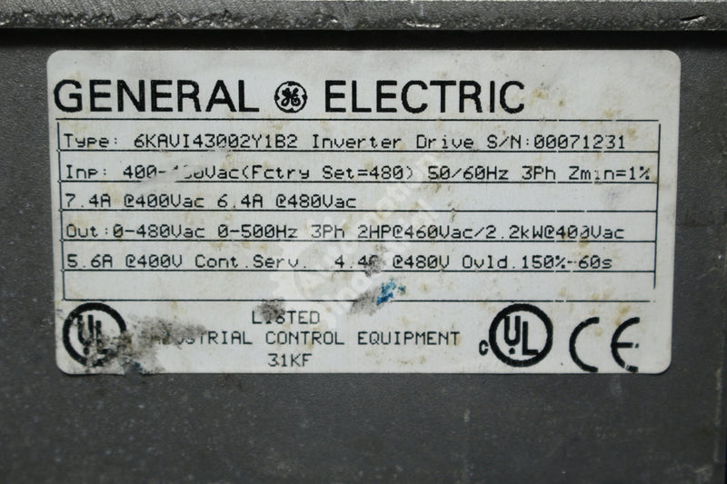 GE General Electric 6KAVI43002Y1B2 2HP Inverter Drive