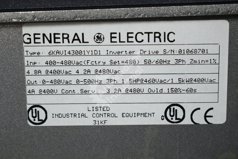 GE General Electric 6KAVI43001Y1D1  1HP Inverter Drive NEW