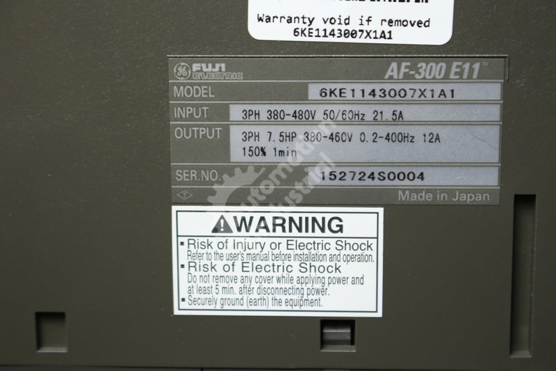 General Electric GE Fuji 6KE1143007X1A1 7.5 HP Drive NEW