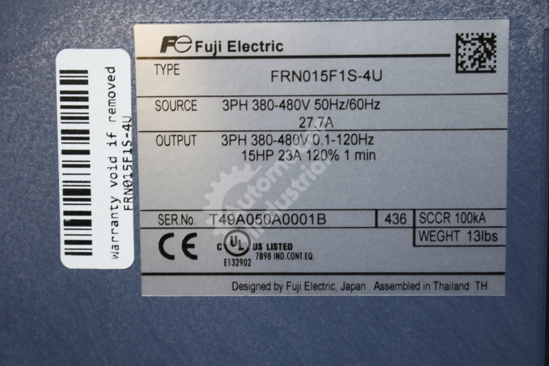 Fuji Electric FRN015F1S-4U Adjustable Frequency Drive NEW