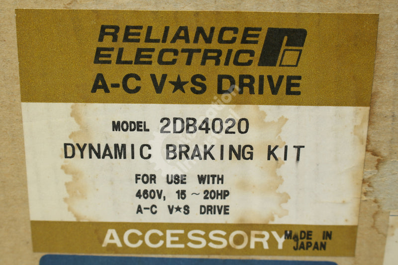Reliance Electric 2DB4020 SP500 15-20HP 460VAC Dynamic Breaking Kit