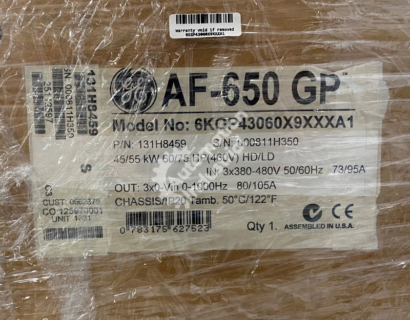 GE General Electric 6KGP43060X9XXXA1 131H8459 AF-650 GP AC Drive NEW