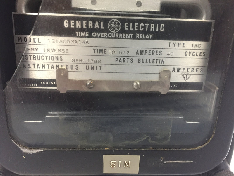 General Electric 12IAC53A14A Time Overcurrent Relay
