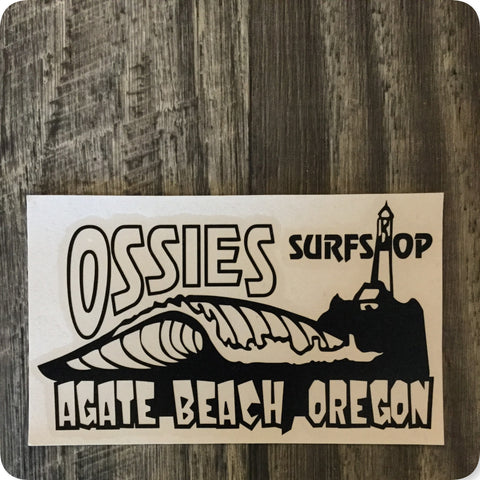 "Agate Beach Sticker Diecut 6"" X 3.64"""