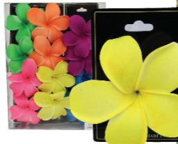 Hair Clip Hibiscus Neon Large