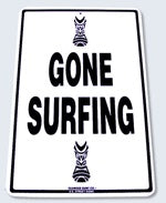 Surf Sign Gone Surfing Tiki