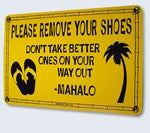 Surf Sign Please Remove Your Shoes