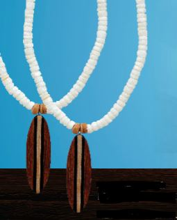 Surfboard & Puka Necklace