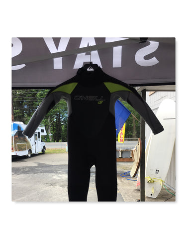 Used 4/3MM Oneill Back Zip SZ K4