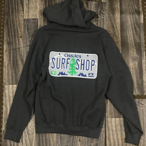 Ossies License Plate Full Zip Hoody
