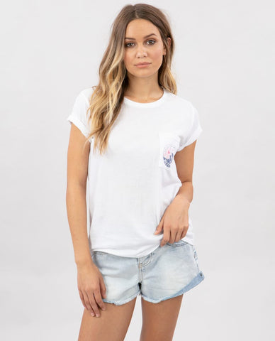 Tide Pocket Tee Small White