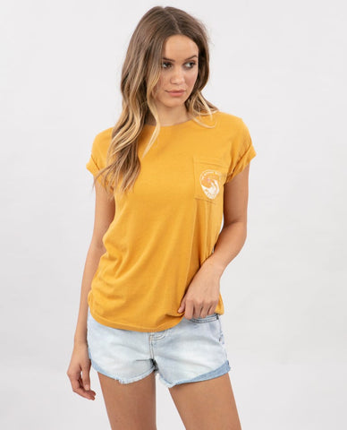 Tide Pocket Tee Large Yellow
