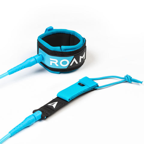Roam Premium Leash Blue Calf