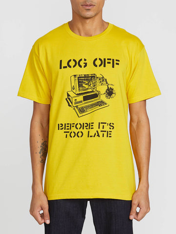 Log Off S/S Tee Small Sulphur