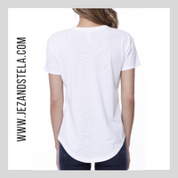 She is Clothed In....-White Melrose Ladies Tee