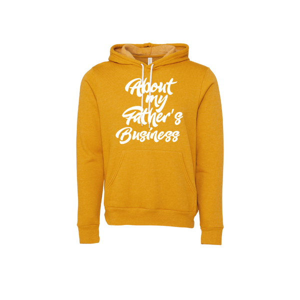 About My Father's- Heather Mustard Unisex Pullover Hoody