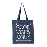 Good Vibes Only-Jumbo Canvas Shopper Tote