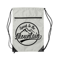 Speak to the Mountain- Drawstring Backpack