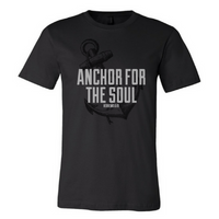 Anchor-Black Unisex Fine Jersey T-shirt