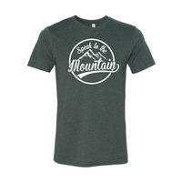 Speak to the Mountain-Heather Forest Unisex Fine Jersey T-shirt