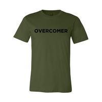 Overcomer- Military Green Unisex Short Sleeve Jersey Tee