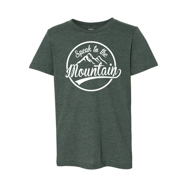 Speak to the Mountain- Youth Unisex Jersey Short Sleeve Tee