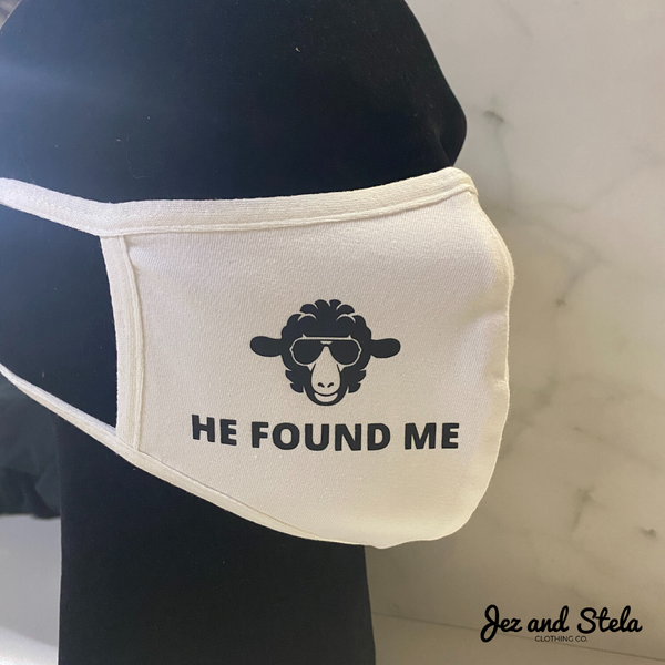 He Found Me- White Double Layer Mask