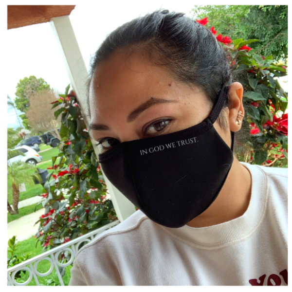 In God we Trust- Black Double Layer Mask