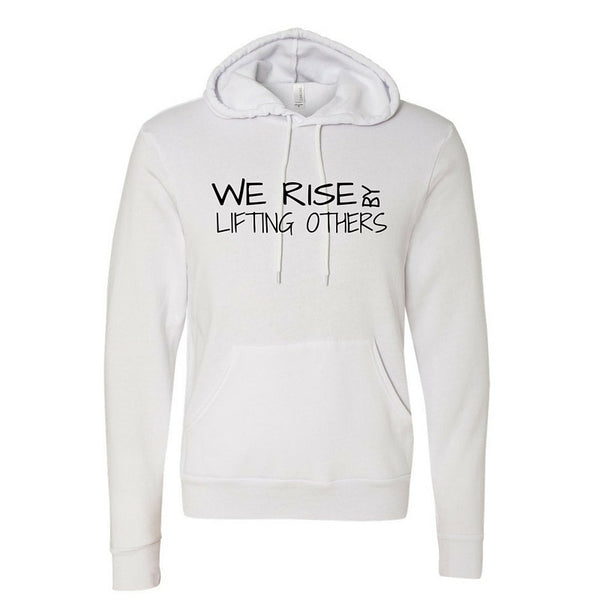 We Rise-White Unisex Pullover Hoody