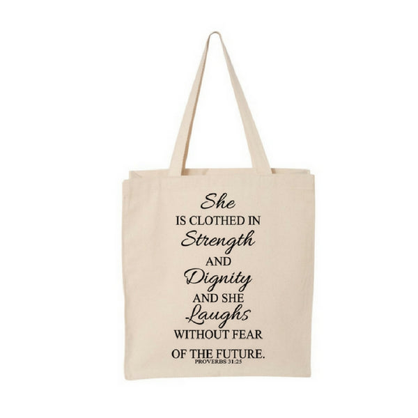 She Is...-Jumbo Canvas Shopper Tote