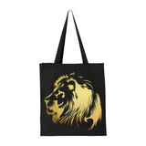 Lion of Judah-Black Jumbo Canvas Shopper Tote