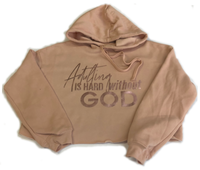 Adulting is Hard-Women's Cropped Fleece Hoodie